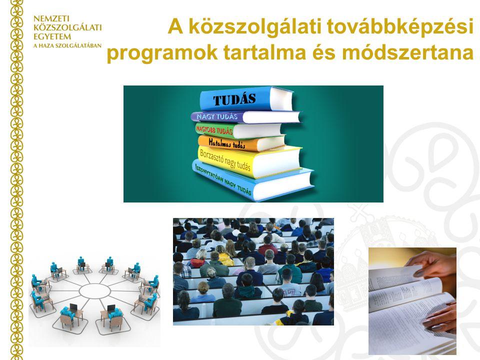 A közszolgálati továbbképzési programok tartalma és módszertana