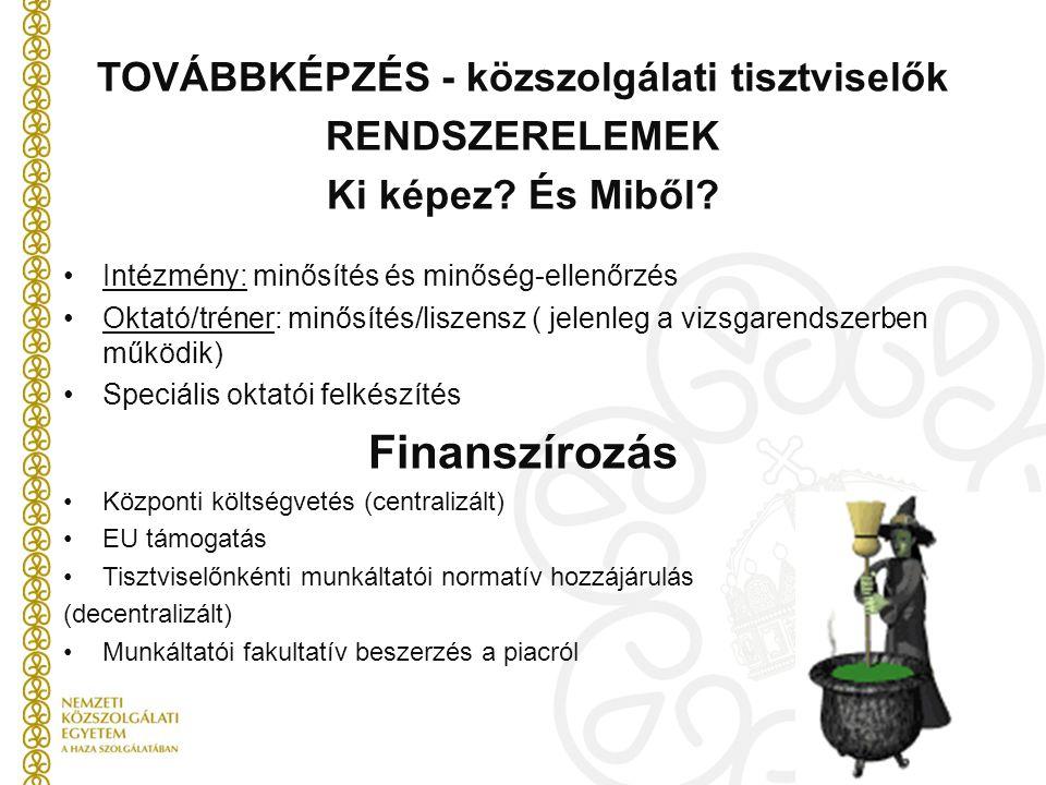 TOVÁBBKÉPZÉS - közszolgálati tisztviselők