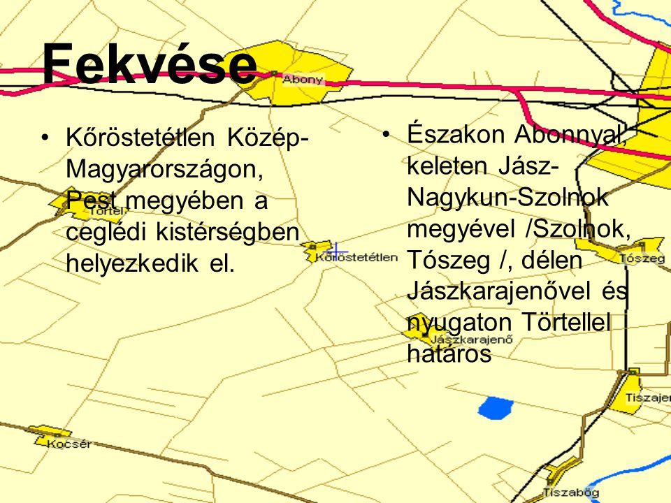 Fekvése Kőröstetétlen Közép-Magyarországon, Pest megyében a ceglédi kistérségben helyezkedik el.