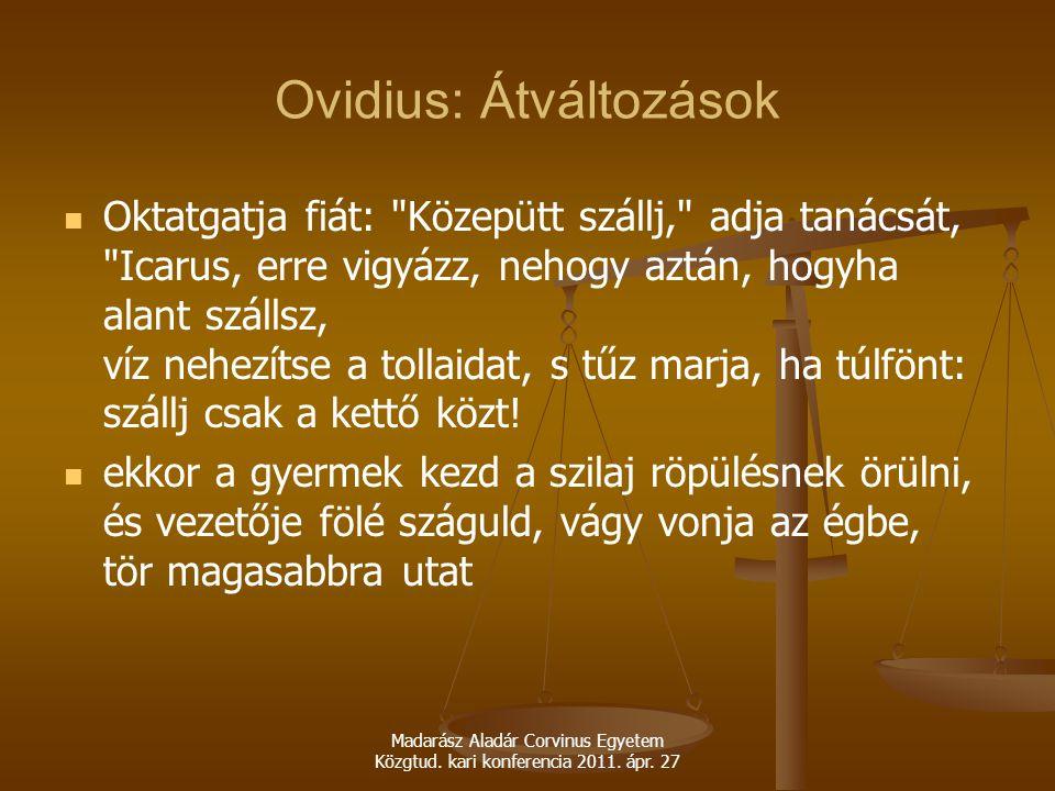 Ovidius: Átváltozások