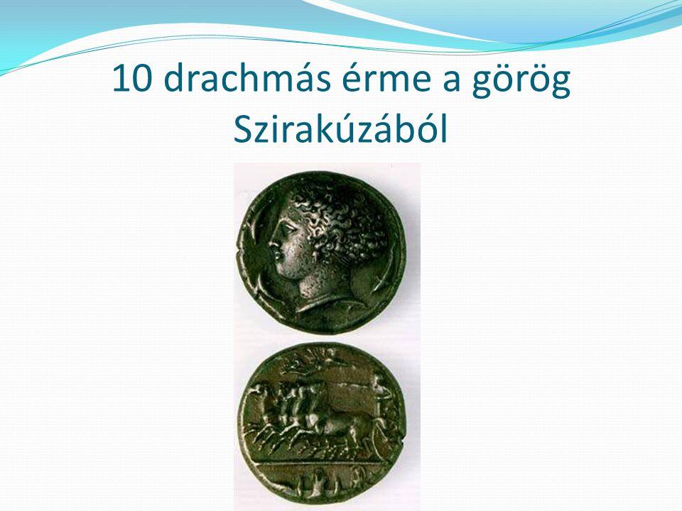 10 drachmás érme a görög Szirakúzából