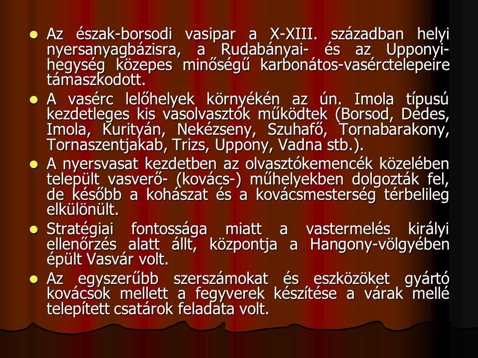 Az észak-borsodi vasipar a X-XIII