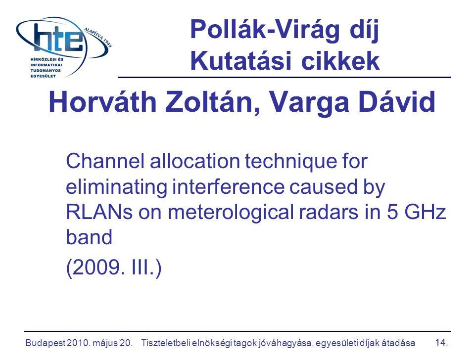 Pollák-Virág díj Kutatási cikkek