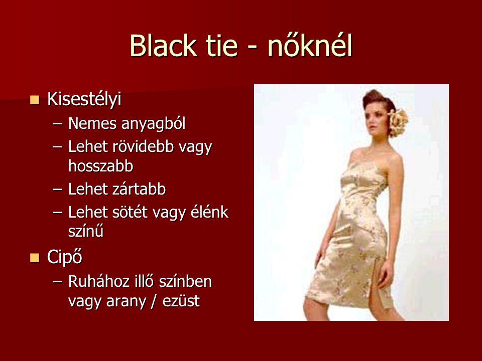 Black tie - nőknél Kisestélyi Cipő Nemes anyagból