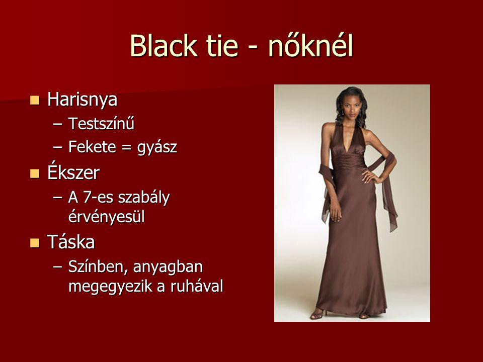 Black tie - nőknél Harisnya Ékszer Táska Testszínű Fekete = gyász