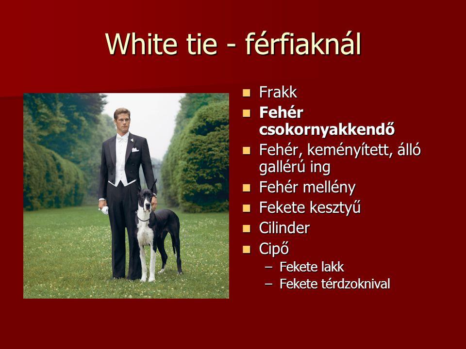 White tie - férfiaknál Frakk Fehér csokornyakkendő
