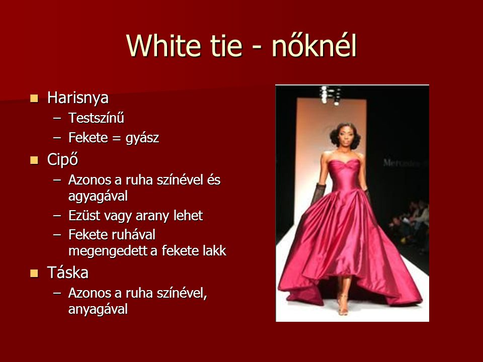White tie - nőknél Harisnya Cipő Táska Testszínű Fekete = gyász