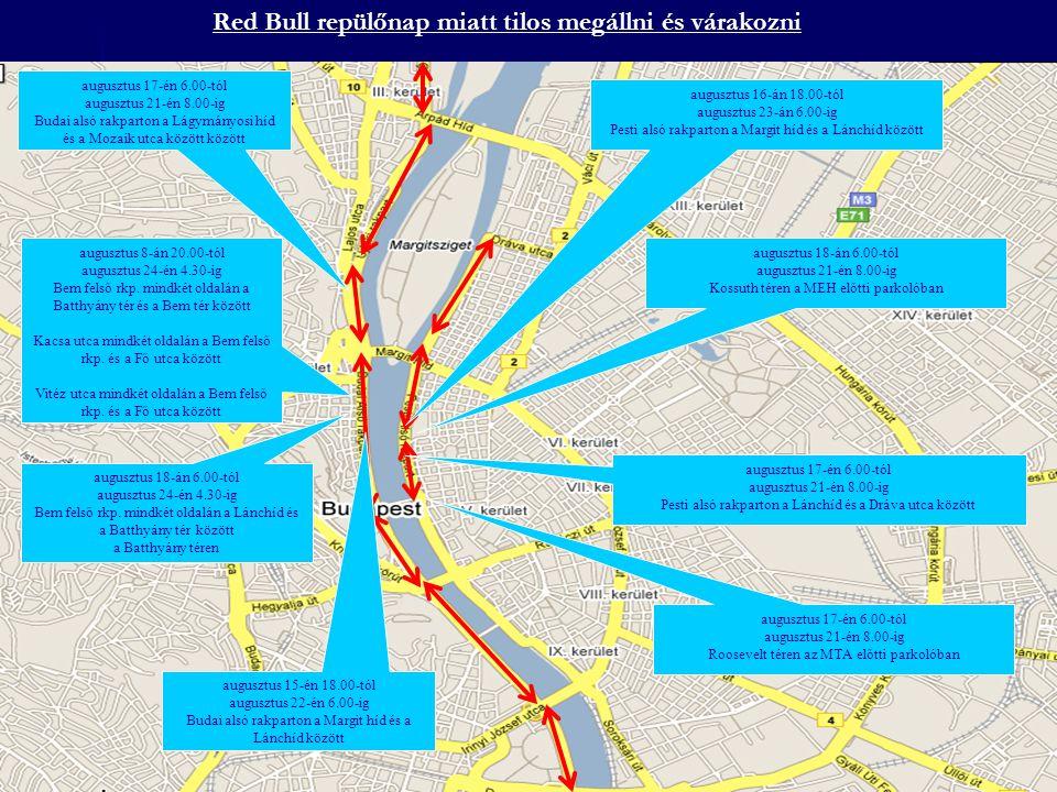 Red Bull repülőnap miatt tilos megállni és várakozni