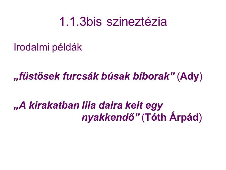 1.1.3bis szineztézia Irodalmi példák