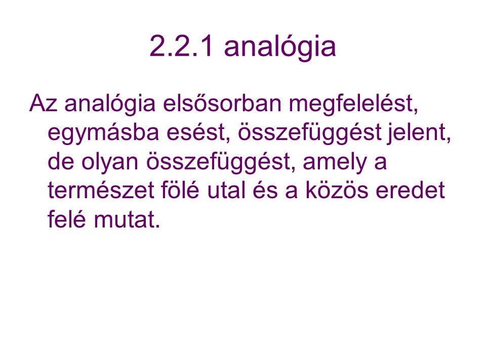 2.2.1 analógia