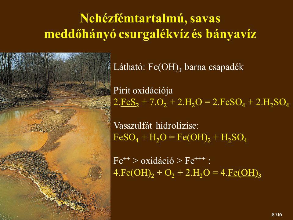 Nehézfémtartalmú, savas meddőhányó csurgalékvíz és bányavíz