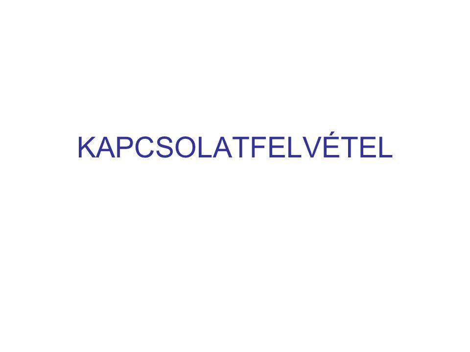 KAPCSOLATFELVÉTEL