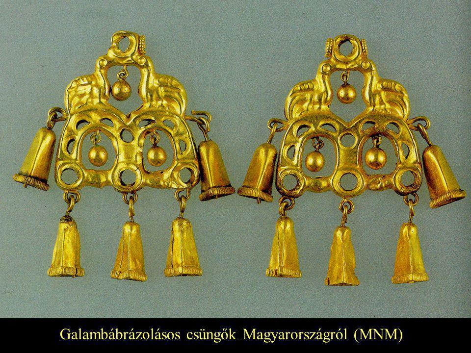 Galambábrázolásos csüngők Magyarországról (MNM)