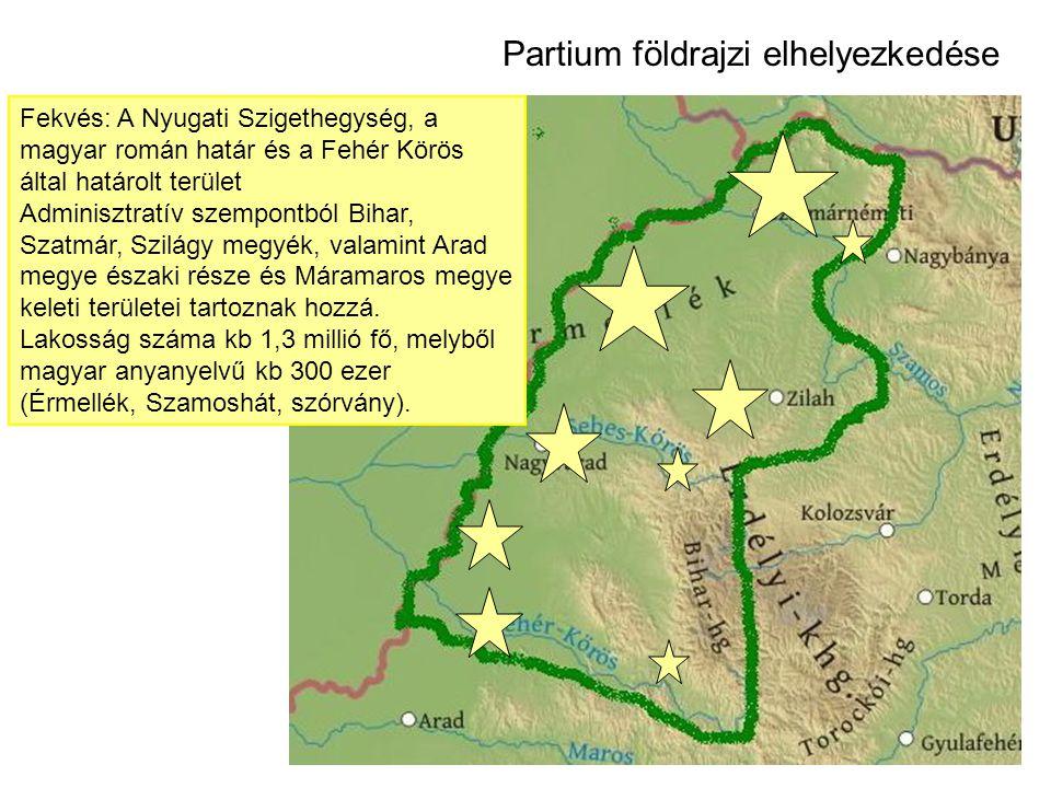 Partium földrajzi elhelyezkedése