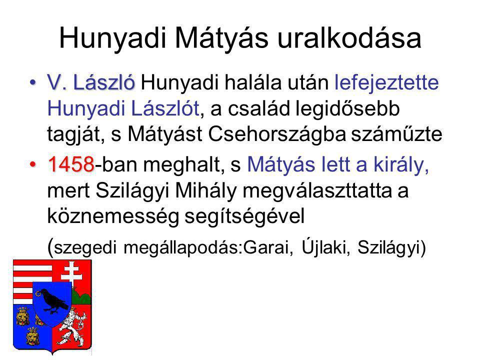 Hunyadi Mátyás uralkodása