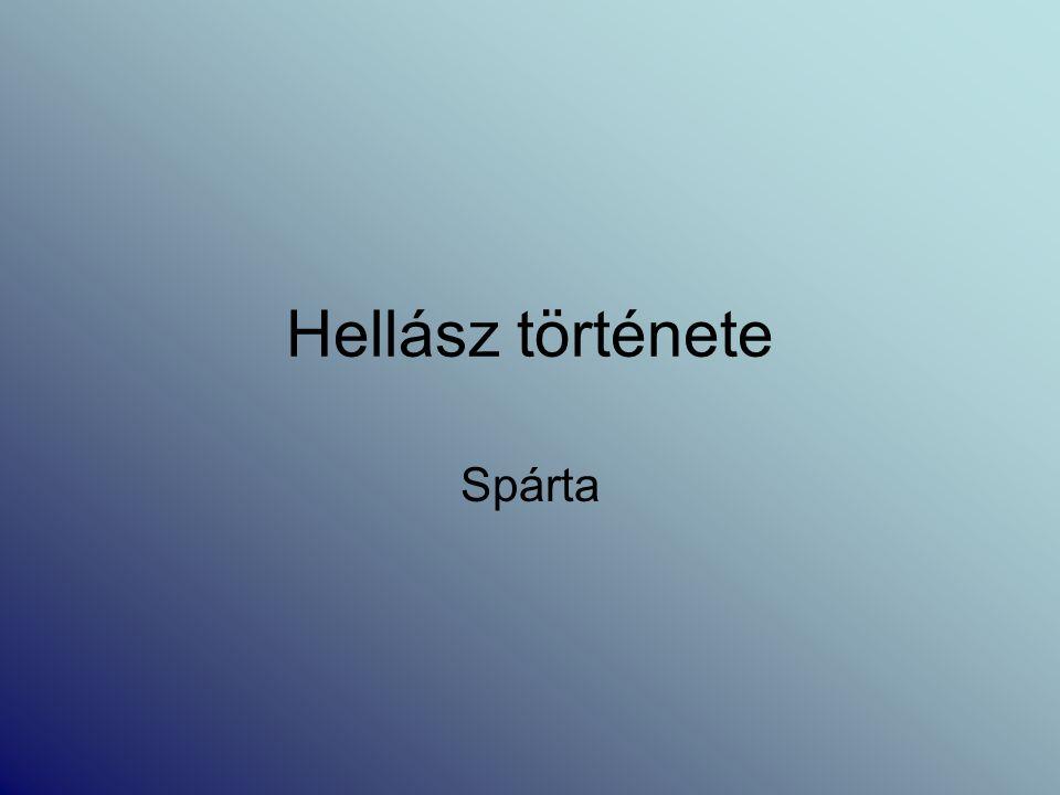Hellász története Spárta