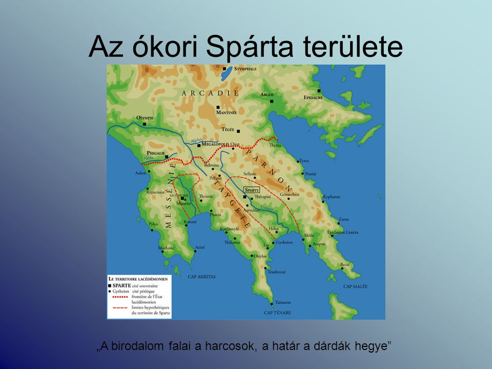Az ókori Spárta területe
