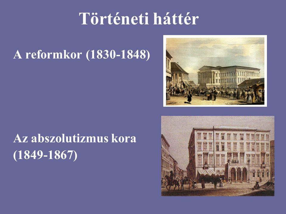 Történeti háttér A reformkor (1830-1848) Az abszolutizmus kora