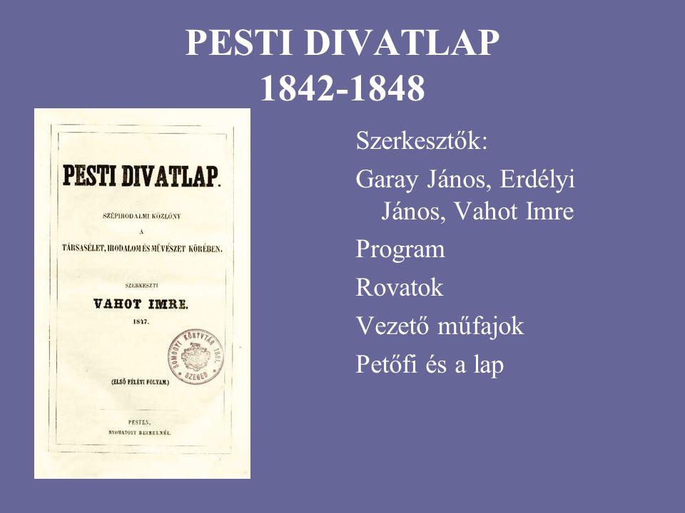 PESTI DIVATLAP 1842-1848 Szerkesztők: