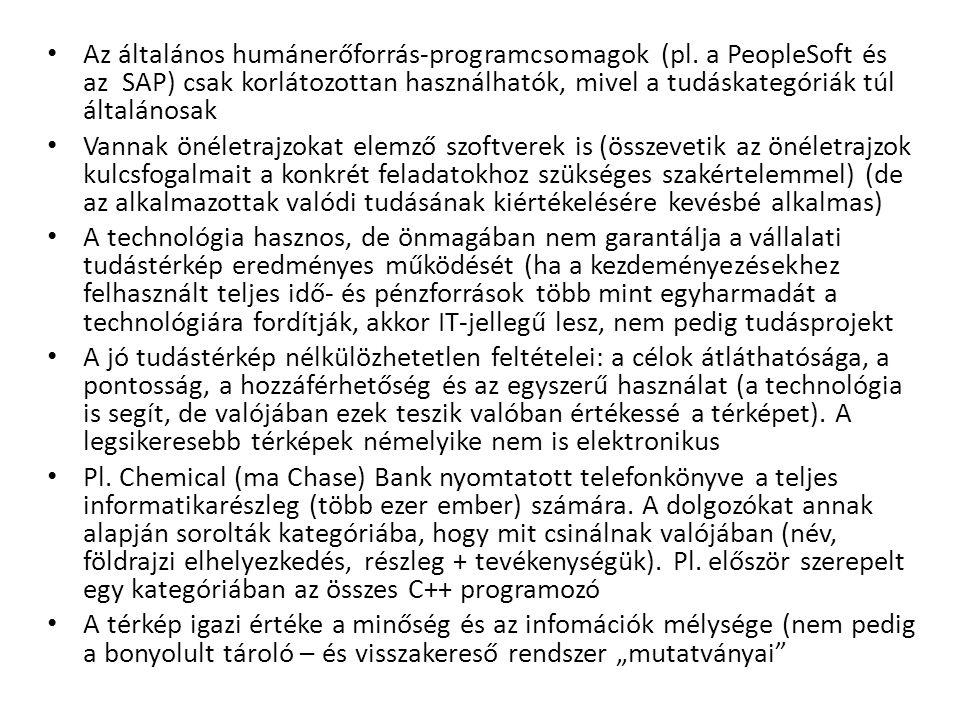 Az általános humánerőforrás-programcsomagok (pl