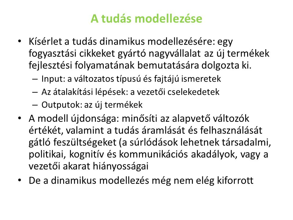 A tudás modellezése