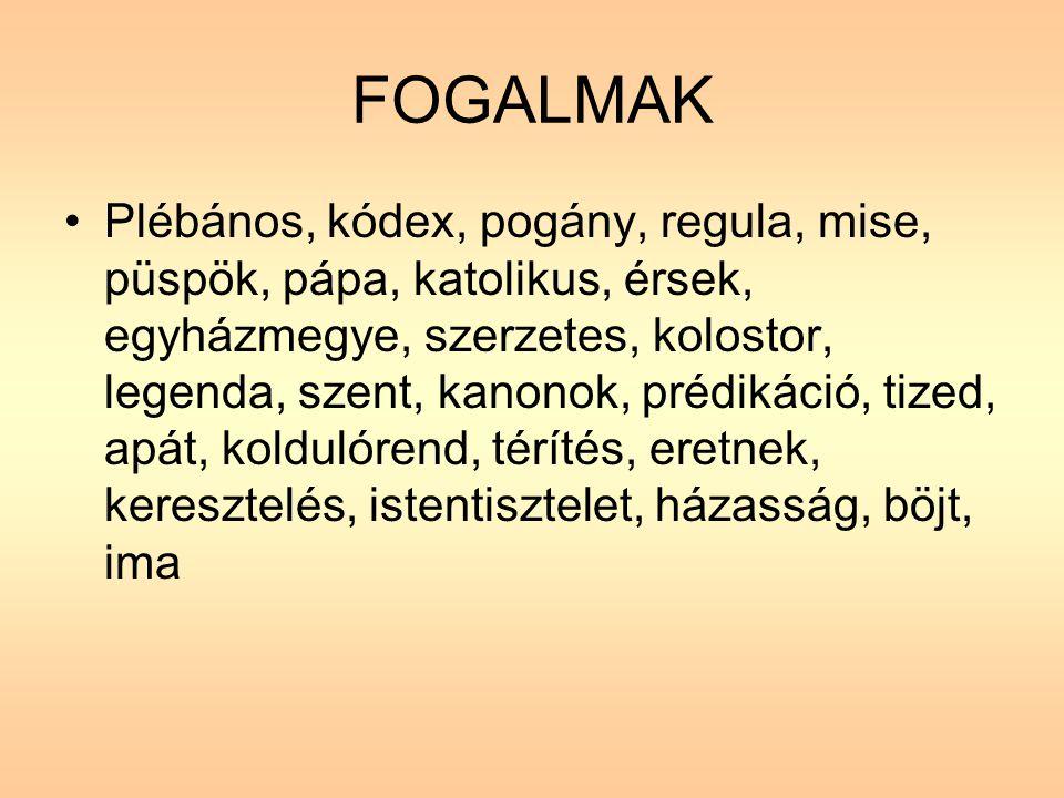 FOGALMAK