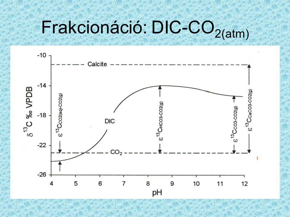 Frakcionáció: DIC-CO2(atm)