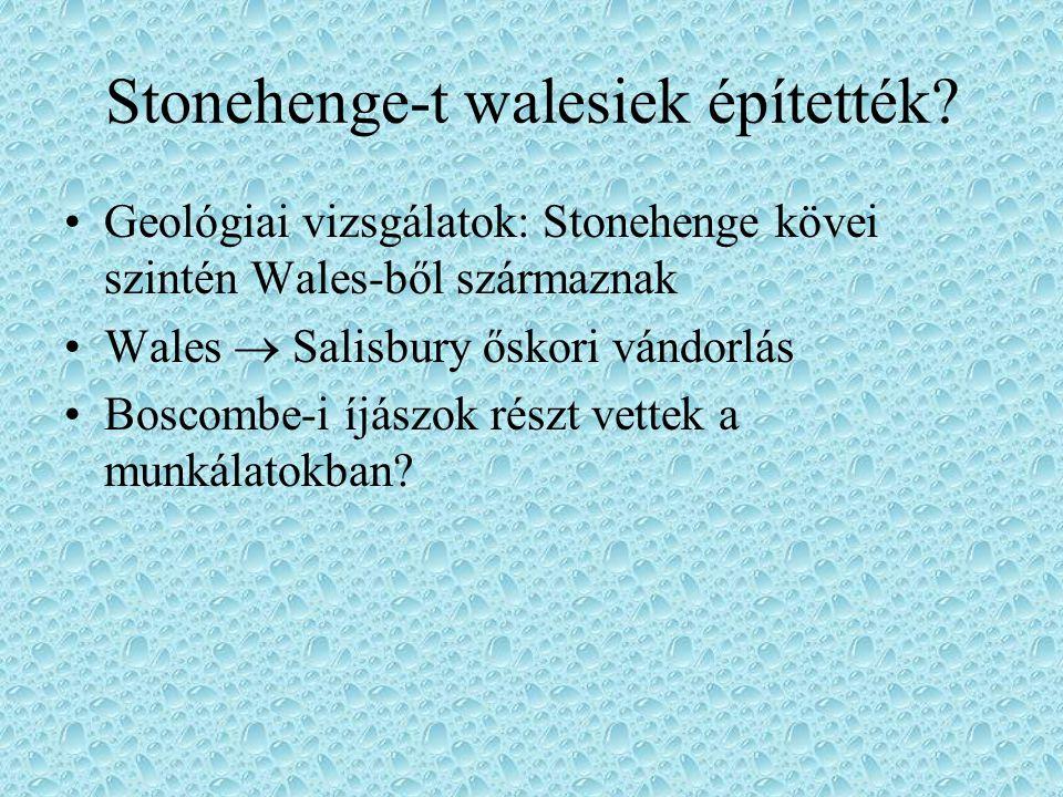 Stonehenge-t walesiek építették
