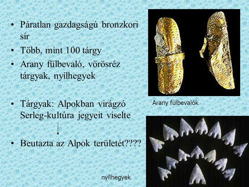 Páratlan gazdagságú bronzkori sír Több, mint 100 tárgy