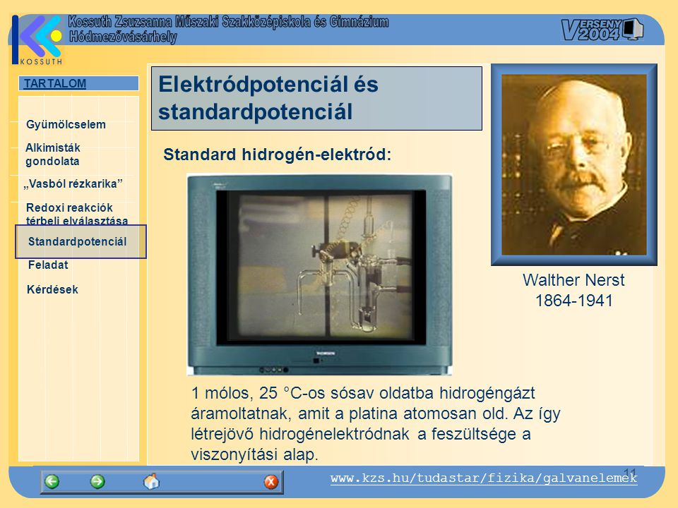 Elektródpotenciál és standardpotenciál