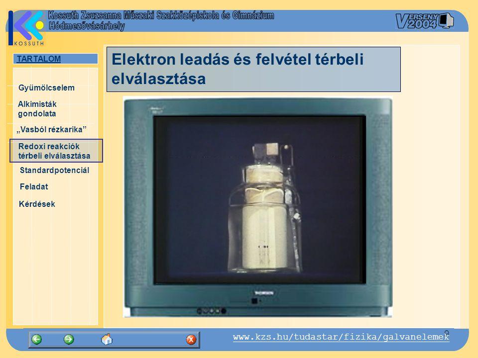 Elektron leadás és felvétel térbeli elválasztása