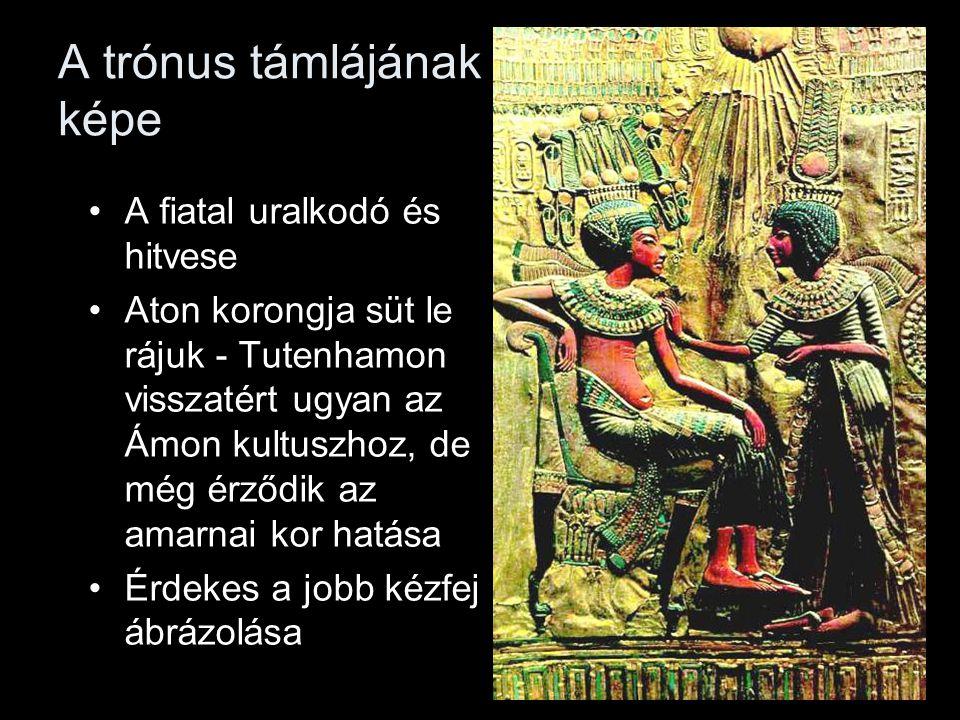 A trónus támlájának képe