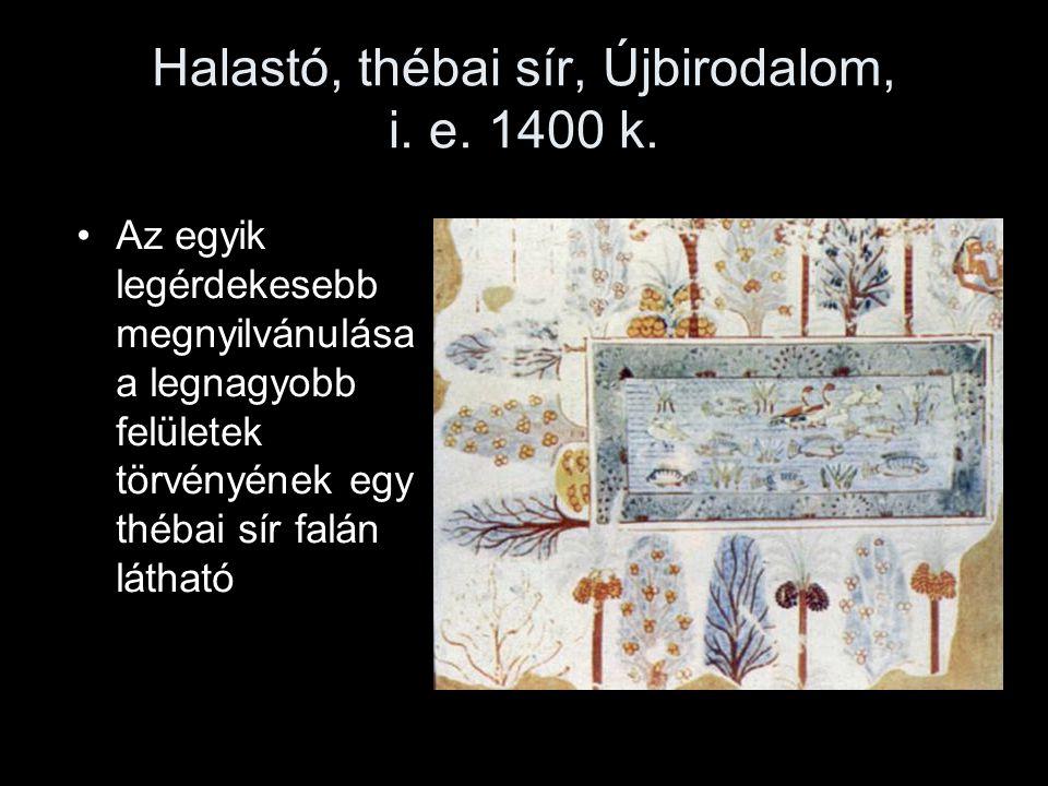 Halastó, thébai sír, Újbirodalom, i. e. 1400 k.