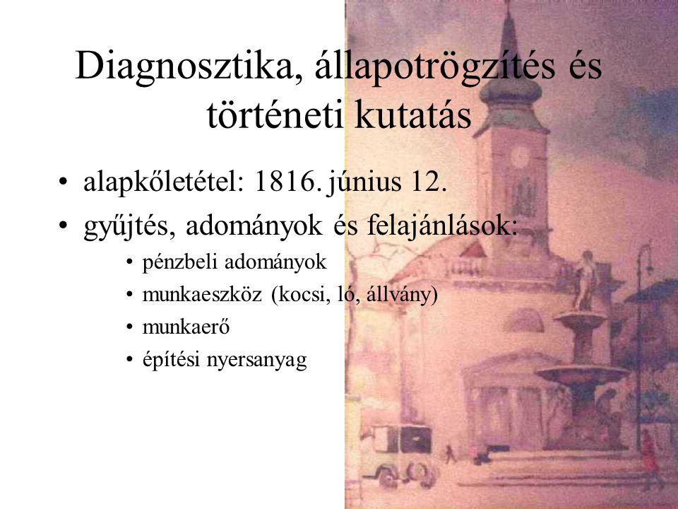 Diagnosztika, állapotrögzítés és történeti kutatás