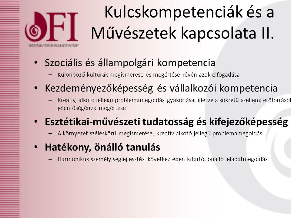 Kulcskompetenciák és a Művészetek kapcsolata II.