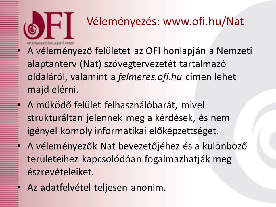 Véleményezés: www.ofi.hu/Nat