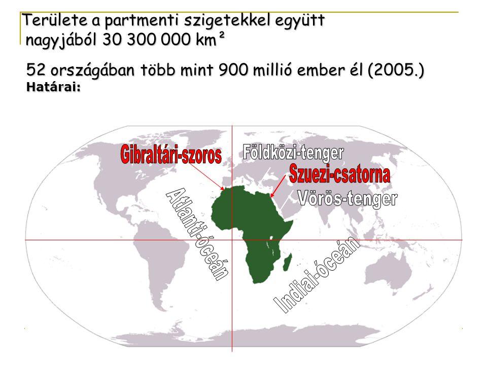 Területe a partmenti szigetekkel együtt nagyjából 30 300 000 km²