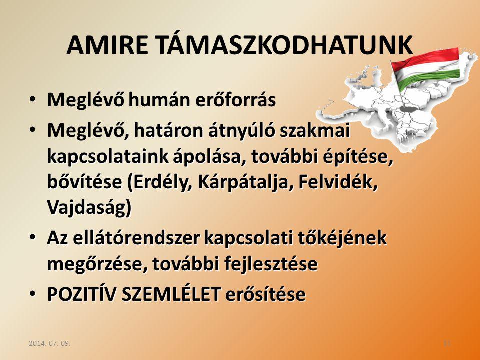 AMIRE TÁMASZKODHATUNK
