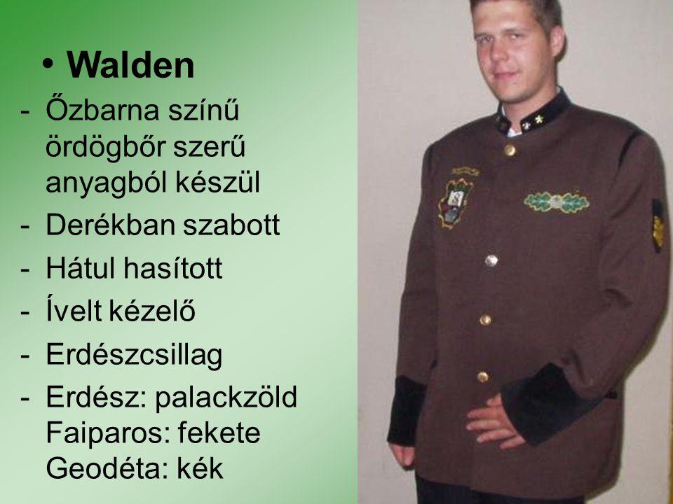 Walden Őzbarna színű ördögbőr szerű anyagból készül Derékban szabott