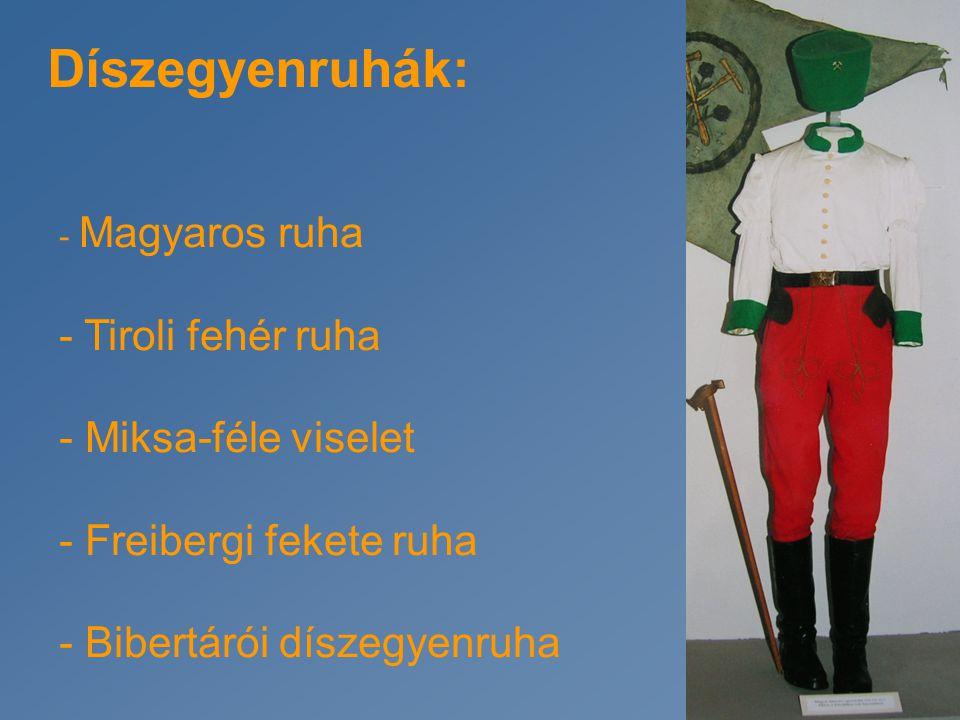 Díszegyenruhák: Tiroli fehér ruha Miksa-féle viselet