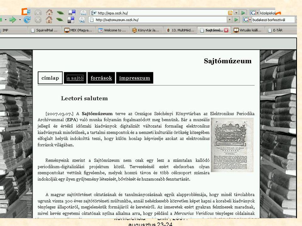 Elektronikus Periodika Archívum és Adatbázis http://epa.oszk.hu