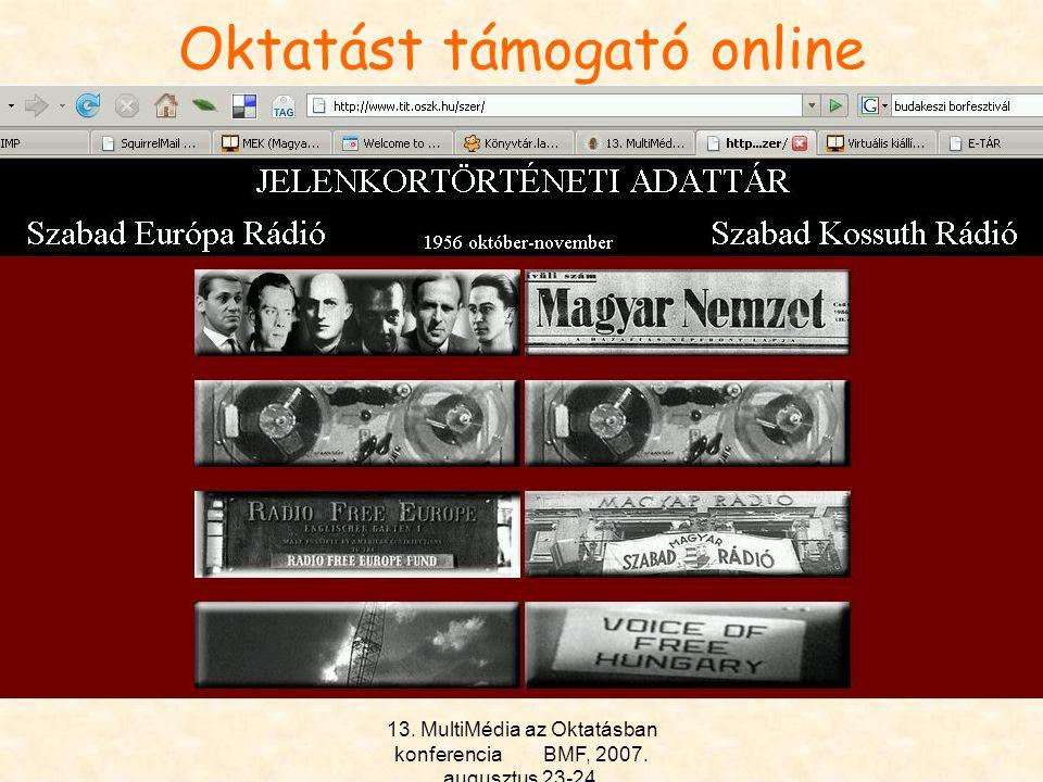Oktatást támogató online szolgáltatások II.