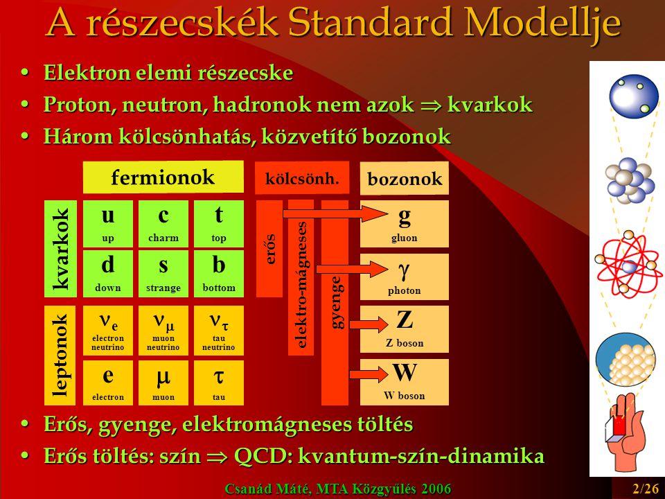 A részecskék Standard Modellje