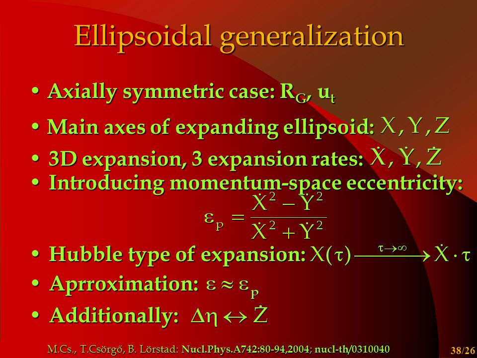 Ellipsoidal generalization