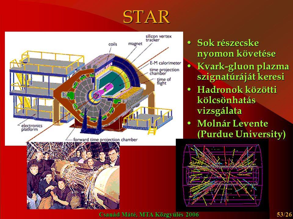STAR Sok részecske nyomon követése