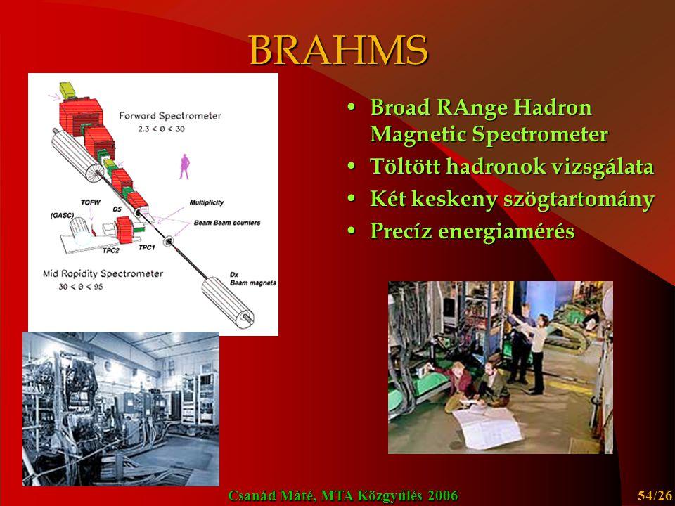 BRAHMS Broad RAnge Hadron Magnetic Spectrometer