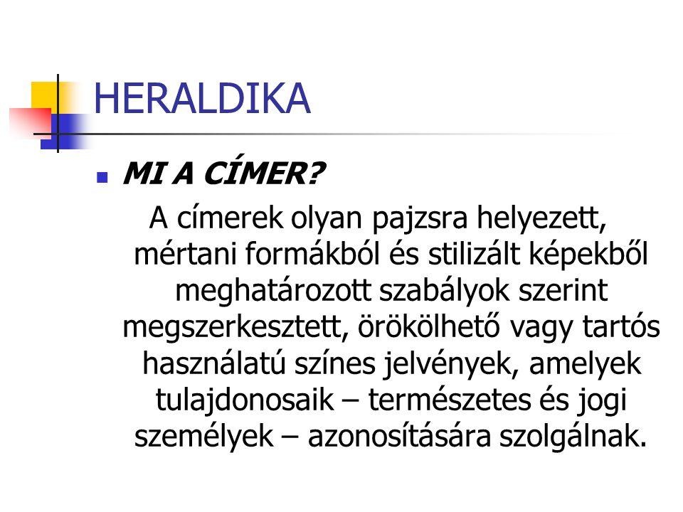 HERALDIKA MI A CÍMER