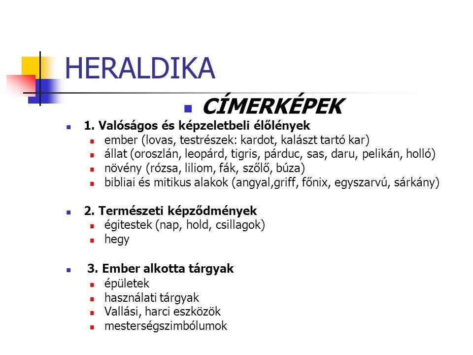 HERALDIKA CÍMERKÉPEK 1. Valóságos és képzeletbeli élőlények