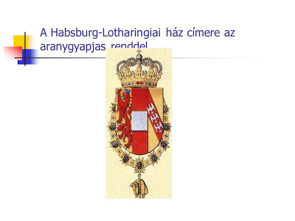 A Habsburg-Lotharingiai ház címere az aranygyapjas renddel