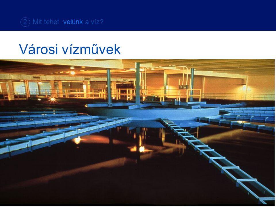 2 Mit tehet velünk a víz Városi vízművek.